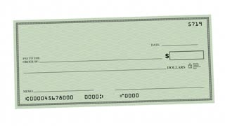 Refund Check Rebate Money Back Payment 3 D Animation