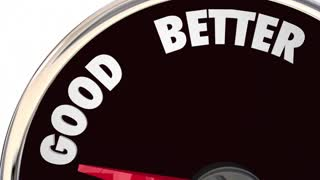 Relationship Good Better Best Speedometer 3 D Animation