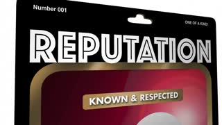 Reputation Most Trusted Person Action Figure 3 D Animation