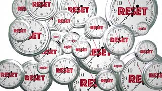 Reset Your Clocks Time Flying Word 3 D Animation