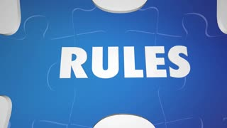 Rewrite The Rules Change Laws Puzzle Words 3 D Animation