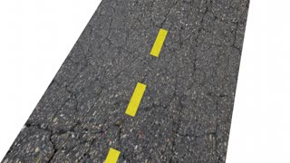 Road Test Driving Exam Evaluation Road Word 3 D Animation