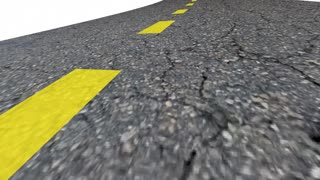 Road To Bailout Automotive Transportation Industry Financial Help 3 D Animation