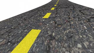 Road Work Construction Project Words 3 D Animation