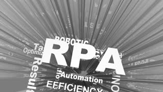 Rpa Robotic Process Automation Job Work Task Efficiency Words 3 D Render Animation
