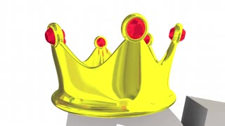 Rule The World Top Winner Success Crown Words 3 D Animation