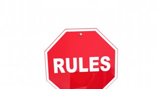 Rules Laws Regulations Stop Yield Road Signs 3 D Animation