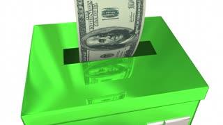 Save Money Bank Deposit Box Saving For Future 3 D Animation
