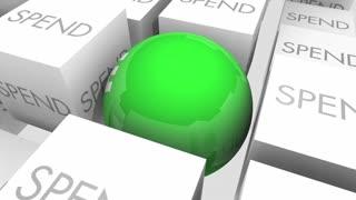 Save Vs Spend Budget Money Savings 3 D Animation