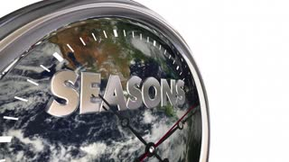 Seasons Clock Time Passing Earth Planet World 3 D Animation