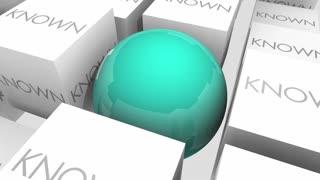 Secret Vs Known Private Confidential Classified 3 D Animation