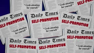 Self Promotion Promote Yourself Job Newspaper Headlines 3 D Animation