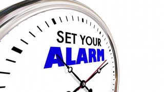 Set Your Alarm Clock Time Wake Up Start 3 D Animation