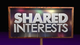 Shared Interests Common Goals Sign People Gathered 3 D Animation