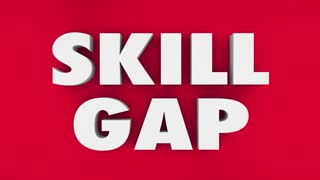 Skill Gap Knowledge Expertise Puzzle 3 D Animation