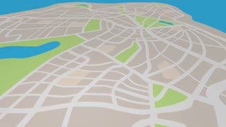 Small Business New Location Map Pin 3 D Animation