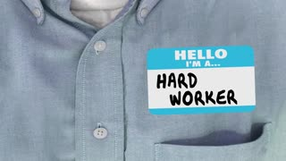 Smart Not Hard Worker Employee Name Tag 3 D Animation