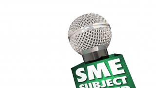 Sme Subject Matter Expert Microphone Speaker Discussion Interview 3 D Animation