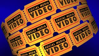 Social Media Video Movies Posts Viewers Tickets 3 D Animation