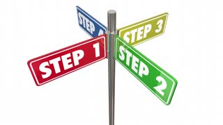 Steps 1 2 3 4 Instructions How To Procedure Signs Seamless Looping 3 D Animation