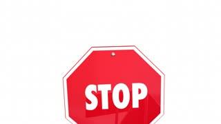 Stop All Discrimination No Prejudice Racism Warning Signs 3 D Animation