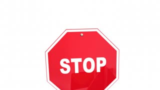 Stop All Harassment Abuse Road Signs 3 D Animation