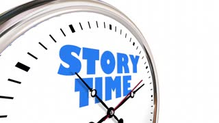 Story Time Storytelling Narrative Clock Hands Ticking 3 D Animation