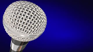 Straight Talk Radio Chat Show Microphone 3 D Animation