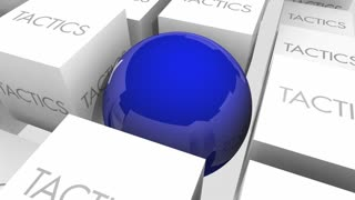Strategy Vs Tactics Action Plan Goals Objectives 3 D Animation