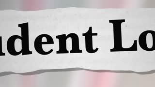 Student Loans Newspaper Headlines College Debt 3 D Animation