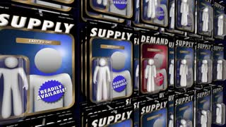 Supply And Demand Economic Law Principal Product Availability 3 D Animation