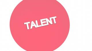 Talent Plus Passion Equals Success Venn Diagram 3 D Animation