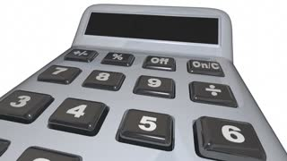 Taxes Word Calculator Accounting Fees 3 D Animation