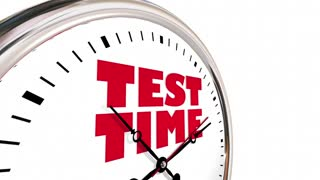 Test Time Exam Testing Examination Clock Hands Ticking 3 D Animation