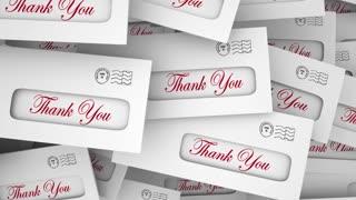 Thank You Appreciation Envelopes Rewards 3 D Animation