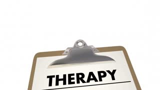 Therapy Checklist Diagnosis Treatment Healing 3 D Animation