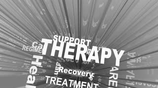 Therapy Treatmnet Help Healing Words 3 D Render Animation