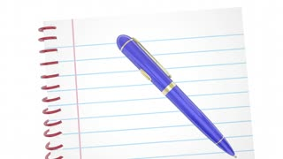 Thought Experiment Exercise Process Pen Notebook Words 3 D Animation