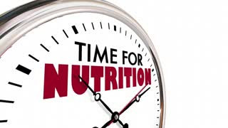 Time For Nutrition Eat Healthy Clock 3 D Animation