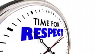 Time For Respect Honor Deference Clock Hands Ticking 3 D Animation