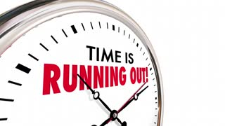 Time Is Running Out Clock Deadline Ending Soon 3 D Animation