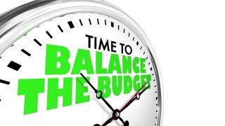 Time To Balance The Budget Clock 3 D Animation