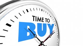 Time To Buy Shop Save Money Clock Words 3 D Animation