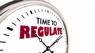 Time To Regulate Enforce Rules Control Clock Hands Ticking 3 D Animation