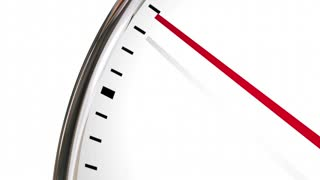 Times Running Out Clock Deadline Coming 3 D Animation