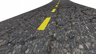 Today Now Moving Forward Arrived Road Word 3 D Animation