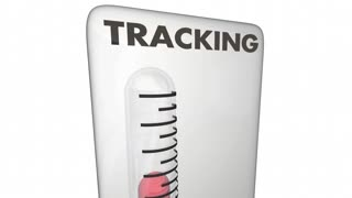 Tracking Measurement Metric Thermometer 3 D Animation