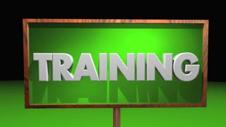 Training Job Skill Learning Apprentice People Sign 3 D Animation