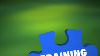 Training Learn Practice Implement Retain Puzzle 3 D Animation