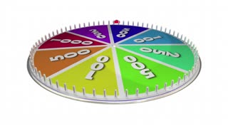 Try Your Luck Spinning Game Show Wheel 3 D Animation